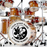bass drum decal