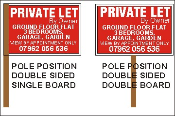 Pole Positions for Double sided property boards