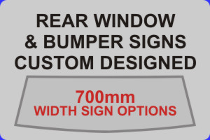700mm Width Sign Options