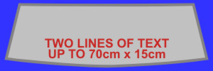 Two Lines of Custom Text for Car Widow or Door Signs