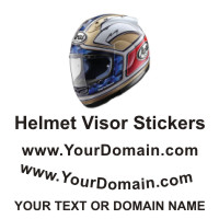Helmet VisorText Stickers or Signs