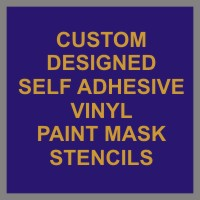 Self Adhesive Paint Mask Stencils for DIY Signs from Vinyl Signs Direct