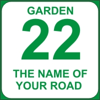Identify your Wheelie and Garden Bins with your House number and street name