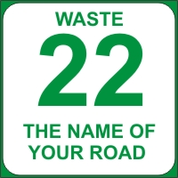 Identify your Wheelie and Waste Bins with your House number and street name