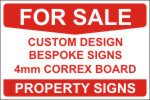 Click to Buy Private Property For Sale Single Side Sign Boards