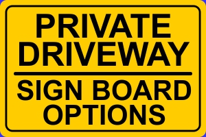 Click to Buy Private Driveway Boards