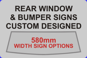 Click to Buy 580mm Width Self Adhesive Vinyl Sign Options