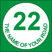 Identify your Wheelie and Recycle Bins with your House number and street name Design 2.