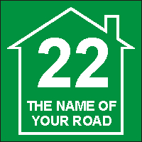 Identify your Wheelie and Recycle Bins with your House number and street name Design 5