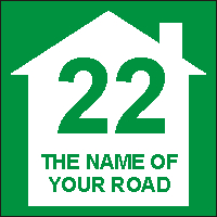 Identify your Wheelie and Recycle Bins with your House number and street name Design 6